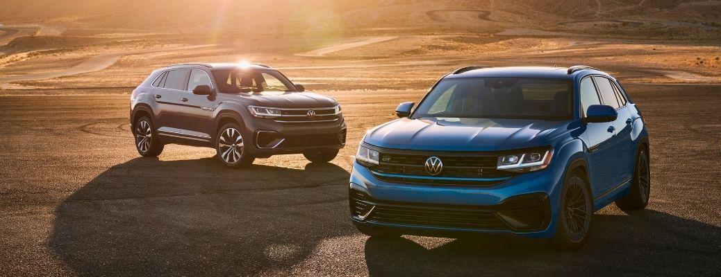 The new Volkswagen Atlas Cross Sport GT Concept parked in a barren land