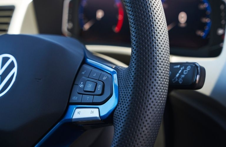 A closer look at the steering wheel of the new VW Atlas Cross Sport GT Concept