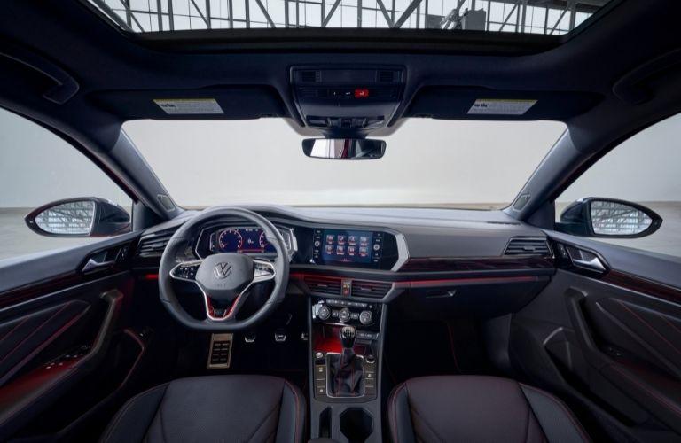 The interior of the 2022 Volkswagen Jetta GLI