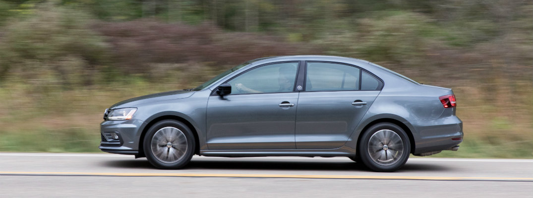 Side profile of gray-colored 2018 Volkswagen Jetta