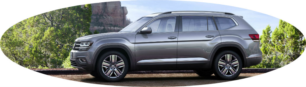 Oval-shaped image of gray 2018 Volkswagen Atlas