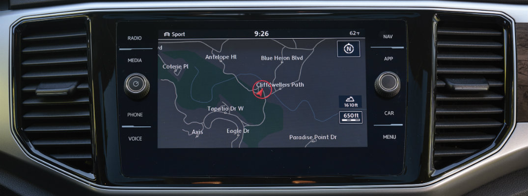Navigation system of the 2018 Volkswagen Atlas