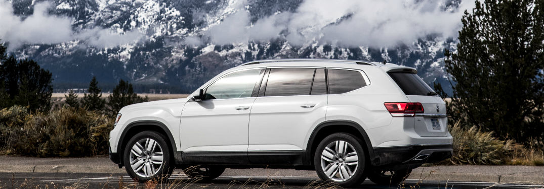 2018 Volkswagen Atlas driving near mountains