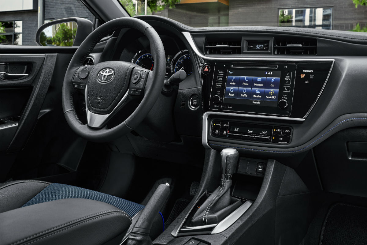 Driver's cockpit of the 2019 Toyota Corolla