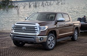 2019 Toyota Tundra in gray by the water