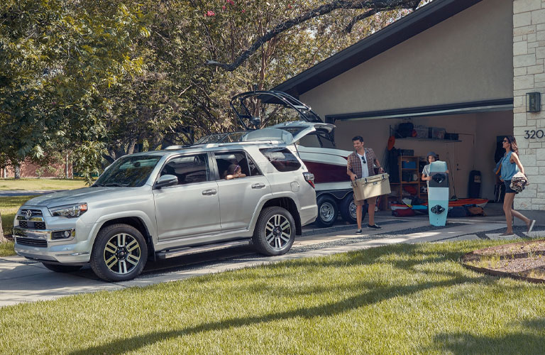 2020 Toyota 4Runner with trailer behind it