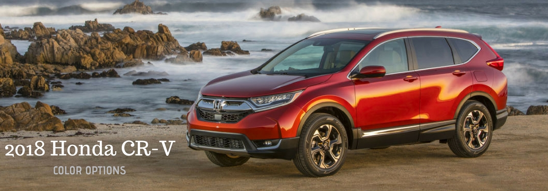 2018 Honda CR-V Color Options, on a image of the driver side exterior of a red 2018 Honda CR-V