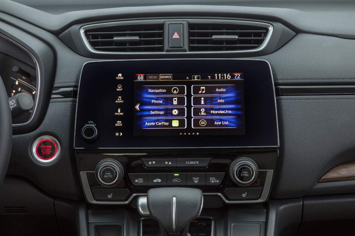 Touchscreen display of the 2018 Honda CR-V