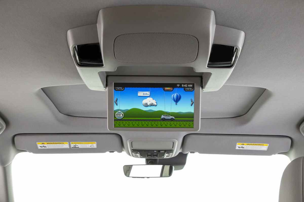 Available rear seat entertainment system of the 2019 Honda Pilot