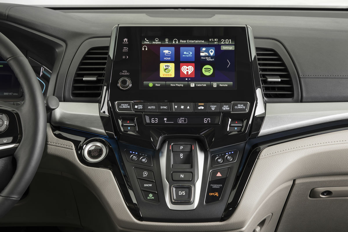 Touchscreen display of the 2019 Honda Odyssey