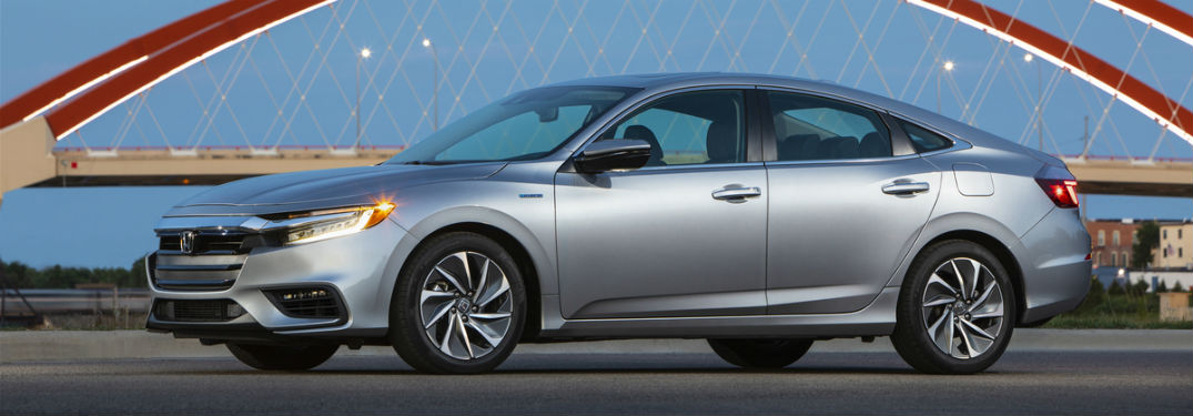 Driver side exterior view of a gray 2019 Honda Insight