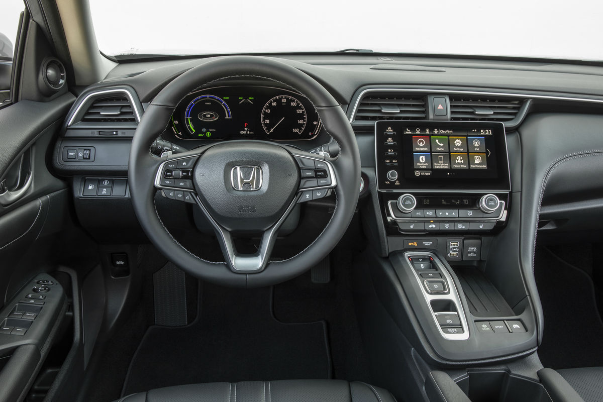 Driver's cockpit of the 2019 Honda Insight