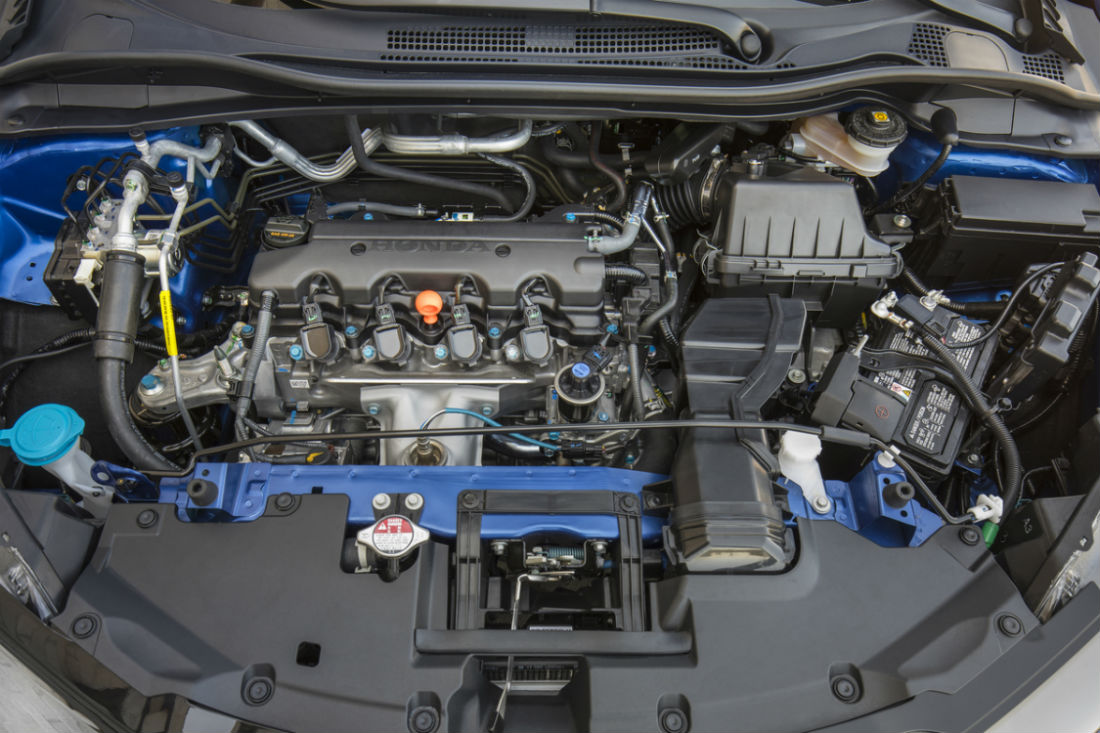 A look under the hood a the 1.8L In-Line 4-Cylinder engine of the 2019 Honda HR-V