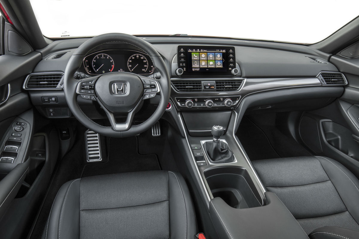 Driver's cockpit of the 2019 Honda Accord