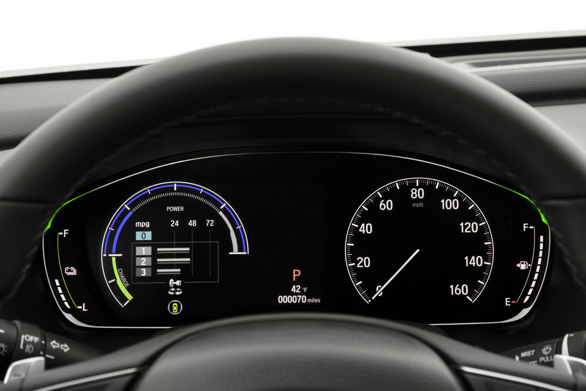 Driver information Cluster of the 2019 Honda Accord Hybrid
