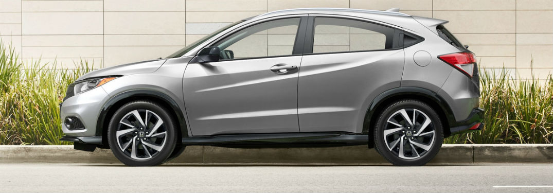 Driver side exterior view of a gray 2019 Honda HR-V