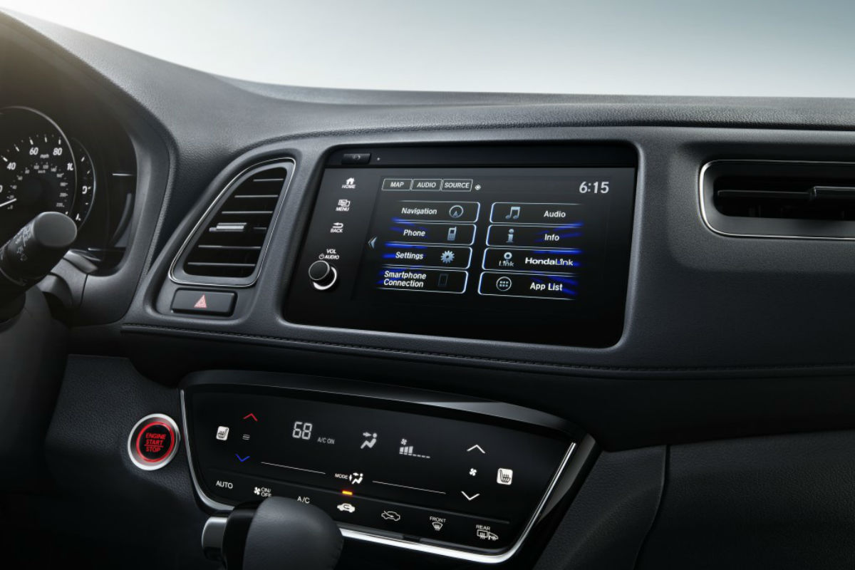 Touchscreen display of the 2019 Honda HR-V