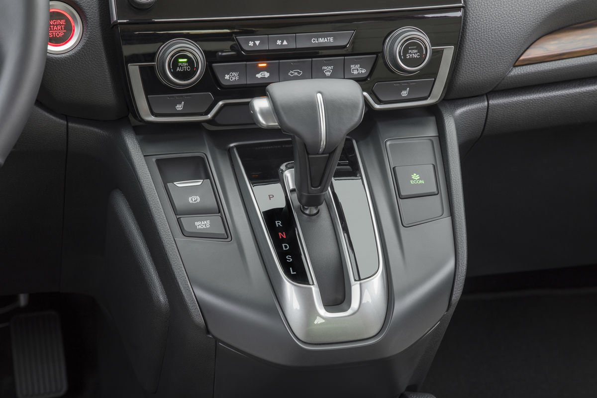 Shift knob and temperature controls of the 2019 Honda CR-V
