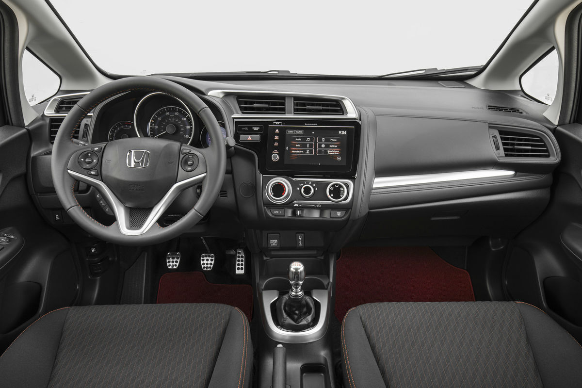 Driver's cockpit of the 2019 Honda Fit
