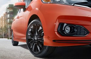 2019 Honda Fit close-up look from a low viewpoint
