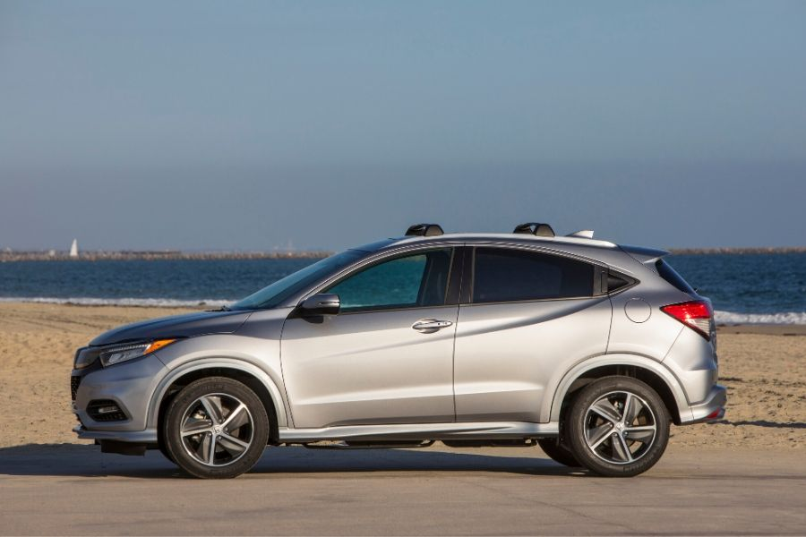 2020 Honda HR-V parked on front of beach from exterior driver side