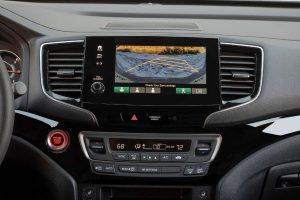 Back-up camera on touchscreen display of 2020 Honda Passport