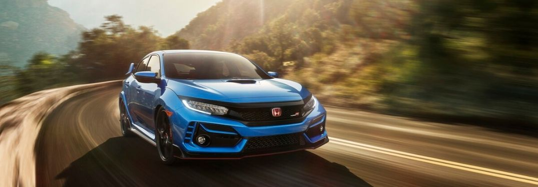 2020 Honda Civic R driving down road