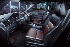 Interior front seats of 2020 Honda Ridgeline