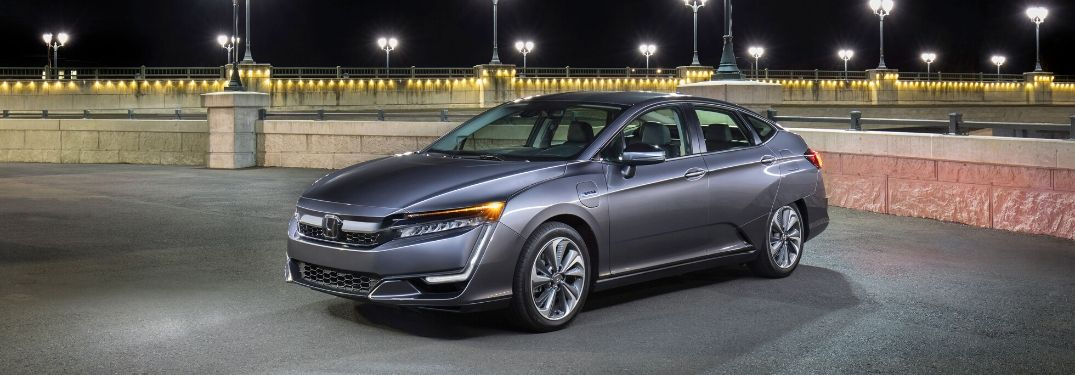 2020 Honda Clarity Plug-In Hybrid under street lights