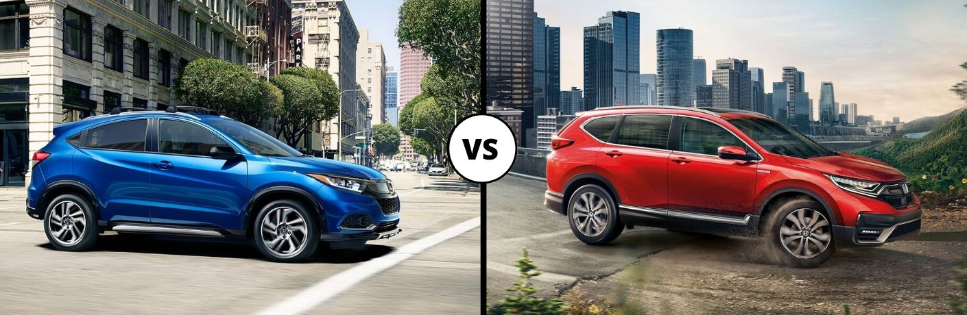 What are the differences between the 2020 Honda HR-V and the 2020 Honda CR-V?