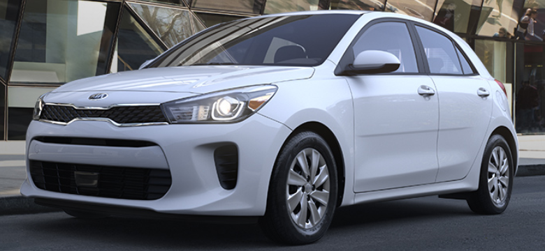 2019 Kia Rio 5-Door Hatchback Clear White