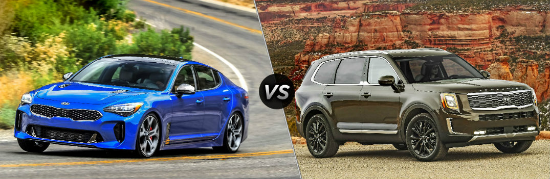 Is the 2019 Kia Stinger or the 2020 Kia Telluride More Powerful?