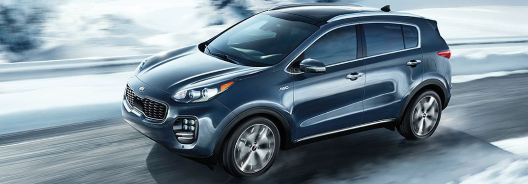 2019 Kia Sportage driving on the road