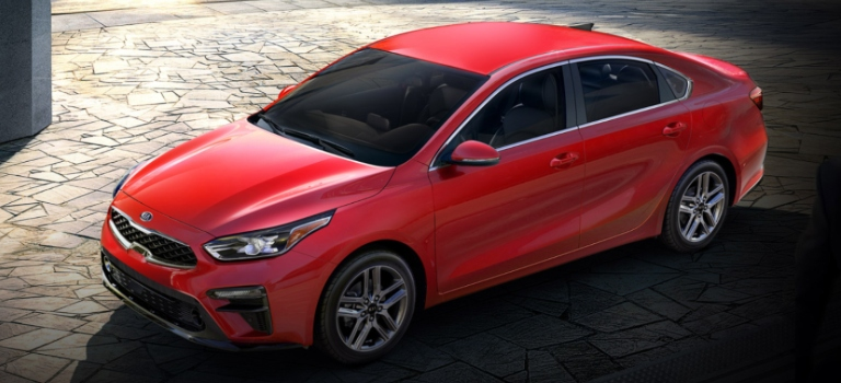 2020 Kia Forte red top side view