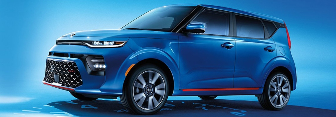 2020 Kia Soul blue side view