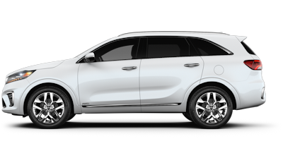 2019 Kia Sorento white side view