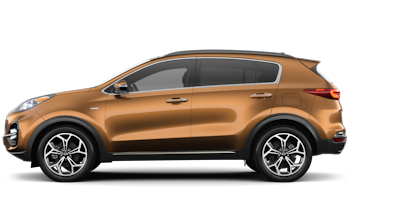 2020 Kia Sportage orange side view