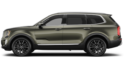 2020 Kia Telluride green side view