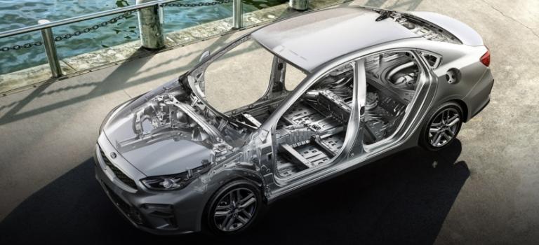 2020 Kia Forte silver uni-body construction