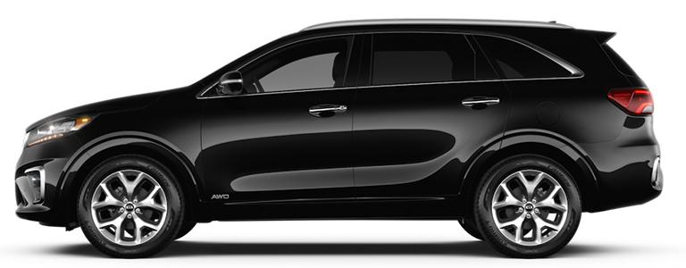 2020 Kia Sorento SX black side view_o