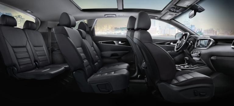 2020 Kia Sorento black leather seats