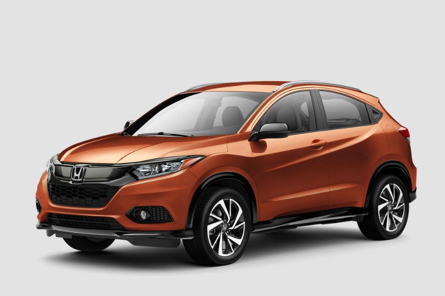 2019 Honda HR-V Sport trim level against gray background