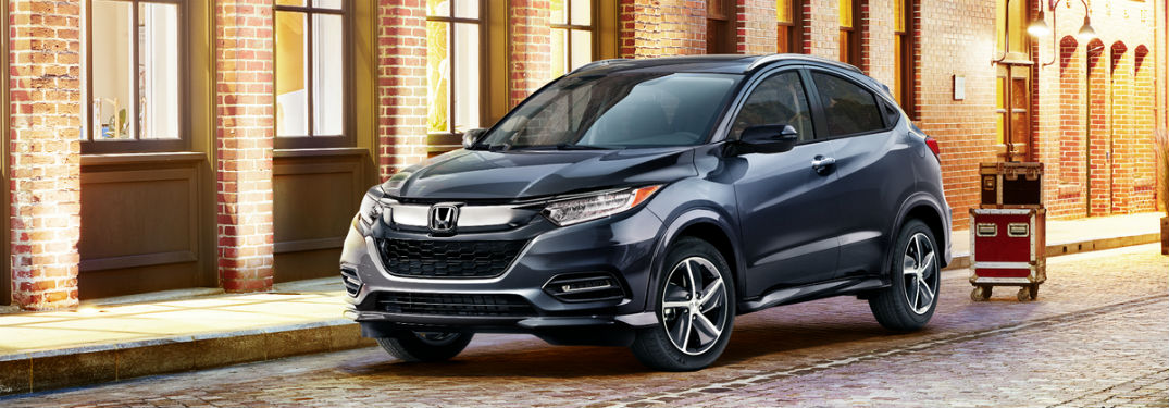 2019 Honda HR-V parked downtown outside bar
