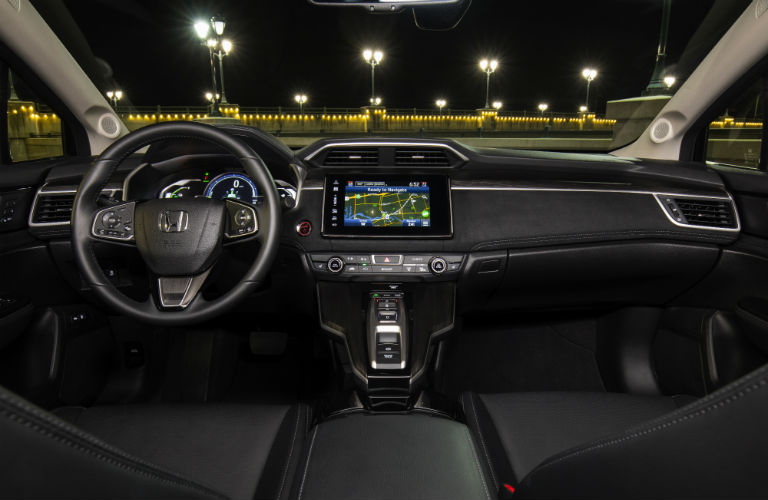 interior of 2018 honda clarity plug-in hybrid