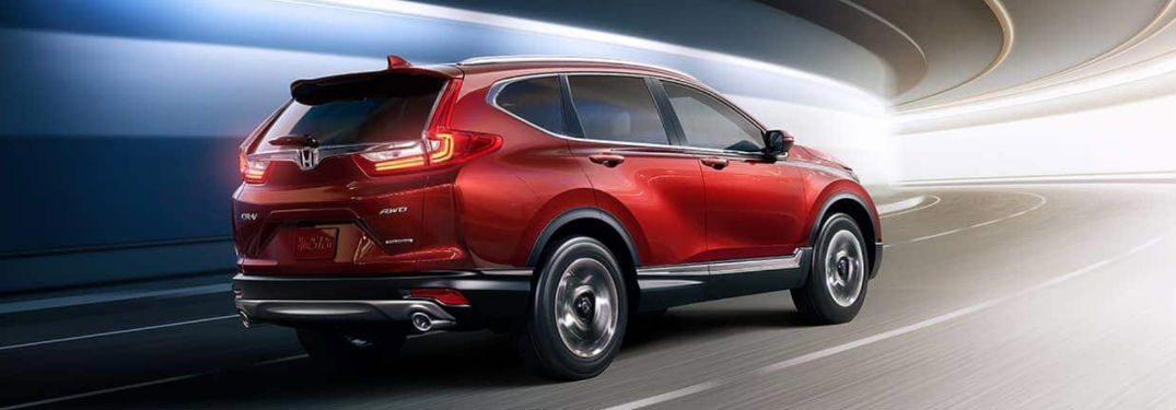 2019 Honda CR-V Touring driving on a road