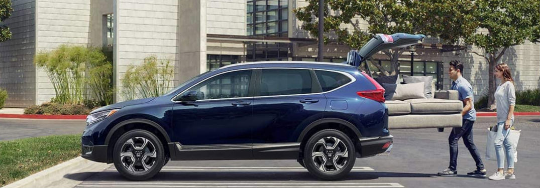 Spacious interior of new 2019 Honda CR-V provides ample amount of passenger and cargo space