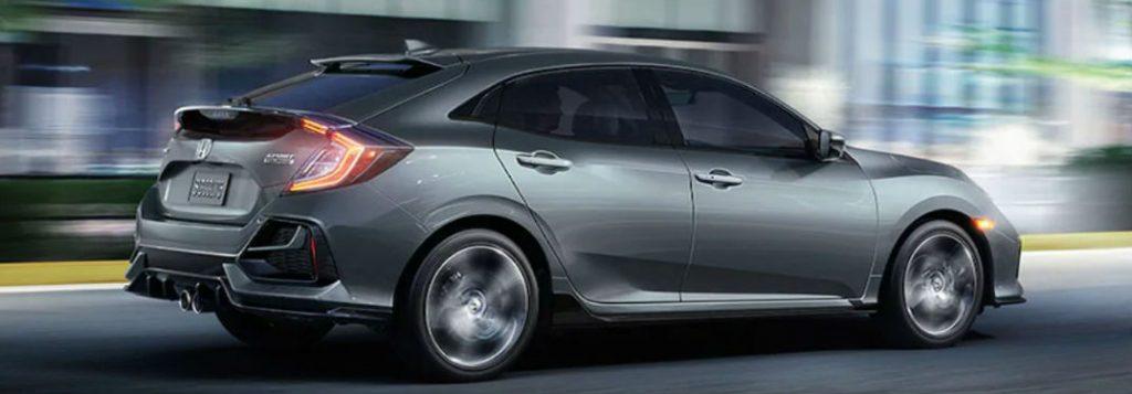 2020 Honda Civic Hatchback driving on a road