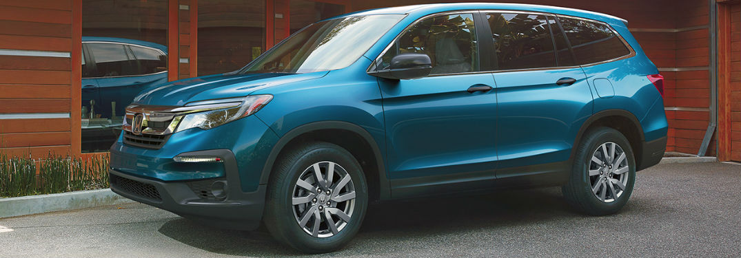 2020 Honda Pilot parked in front of a house