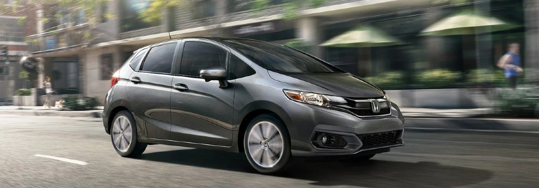 2020 Honda Fit driving on a road