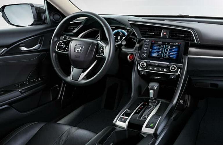2020 Honda Civic Sedan dashboard and steering wheel